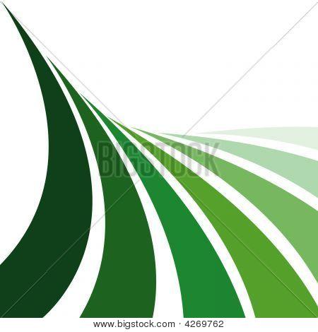Grüne Farm Ernte Linien