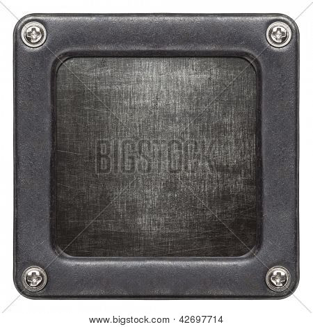 Metal plate texture in a frame