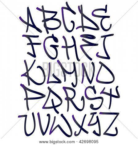 Imágenes de letra en graffiti - Imagui
