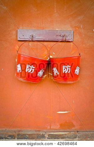 Two Fire Buckets