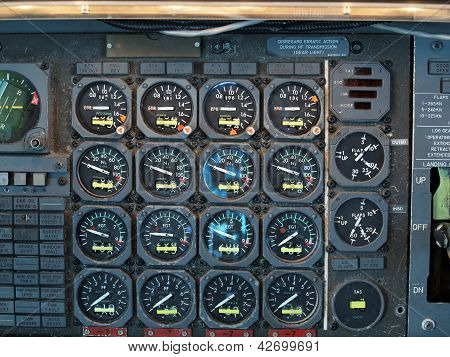 Jet Airplane Cockpit Equipment