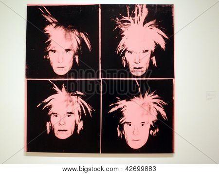 Andy Warhol - autorretrato, C.1986 (Andy Rosa cuatro)