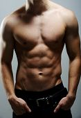 pic of men underwear  - Young sexy muscular man posing - JPG