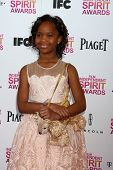 LOS ANGELES - FEB 23:  Quvenzhane Wallis attends the 2013 Film Independent Spirit Awards at the Tent