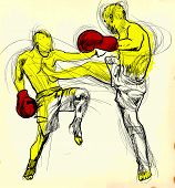 stock photo of muay thai  - Muay Thai  - JPG