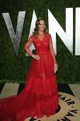 WEST HOLLYWOOD, CA - FEB 24: Hilary Swank at the Vanity Fair Oscar Party at Sunset Tower on February