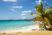 picture of thomas  - Beach scene on island of St Thomas in US Virgin Islands USVI - JPG
