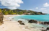 stock photo of thomas  - Beach scene on island of St Thomas in US Virgin Islands USVI - JPG