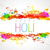 picture of holi  - vector colorful holi festival background - JPG