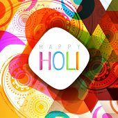 picture of holi  - vector indian style holi background design - JPG