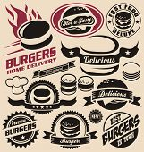 foto of hamburger  - Burger icons - JPG
