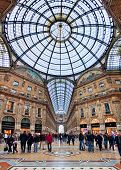MILAN - NOVEMBER 15: Galleria Vittorio Emanuele II - shopping mall includes shops, restaurants and b