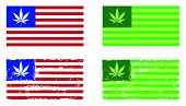 Cannabis Nation - Usa Flags