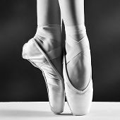 stock photo of ballet shoes  - A photo of ballerina - JPG