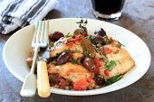 stock photo of stew  - Chicken stew or cacciatore - JPG