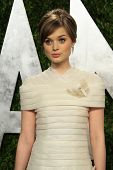 WEST HOLLYWOOD, CA - FEB 24: Bella Heathcote at the Vanity Fair Oscar Party at Sunset Tower on Febru