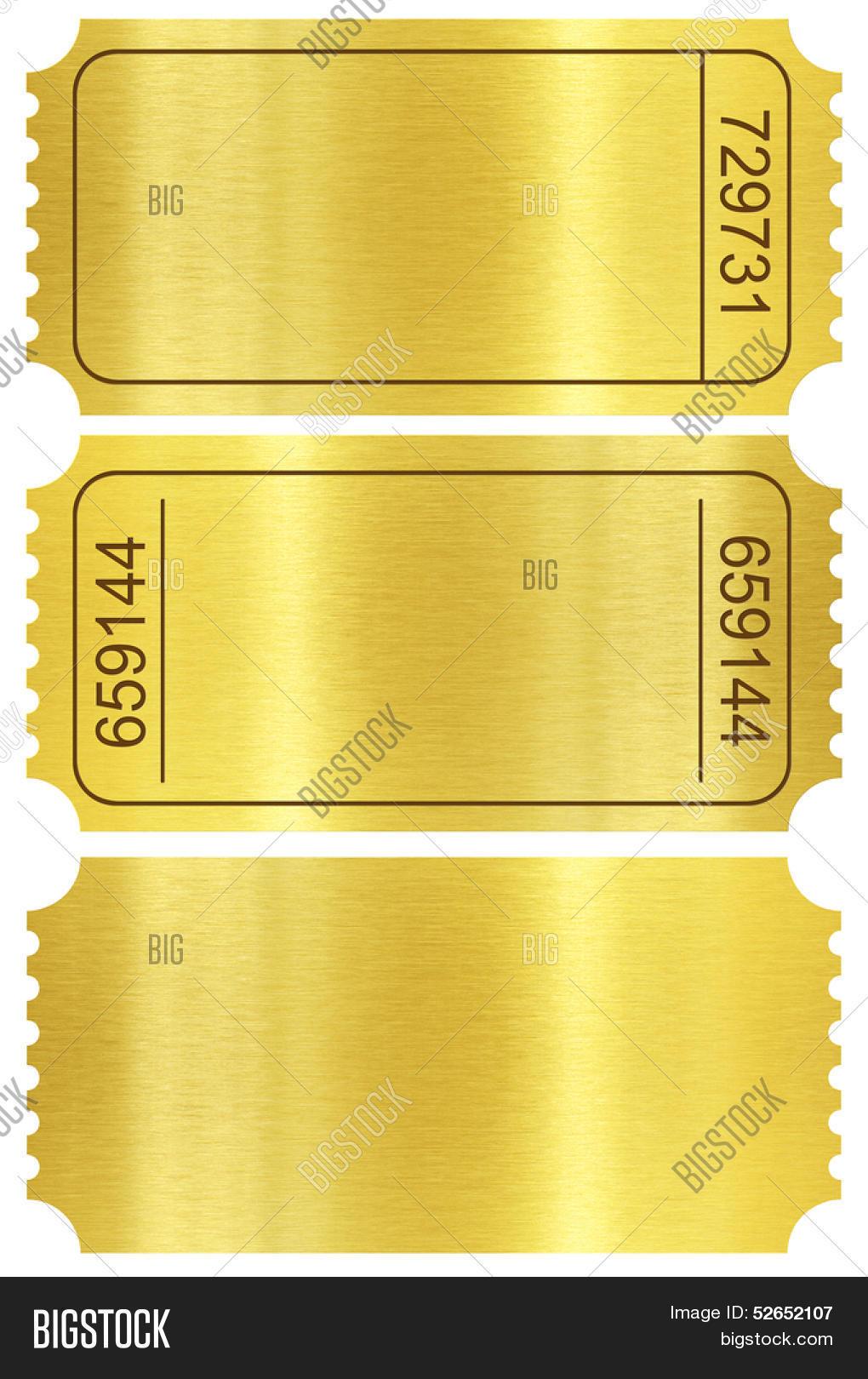 ticket set golden ticket stubs set image photo bigstock. Black Bedroom Furniture Sets. Home Design Ideas