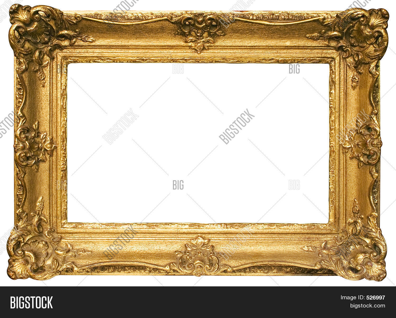 gold plated wooden picture frame w path wide