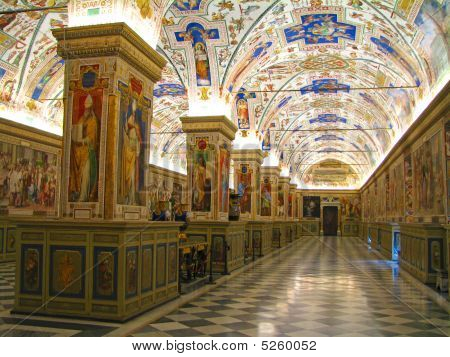 Sistine Hall Of The Vatican Library