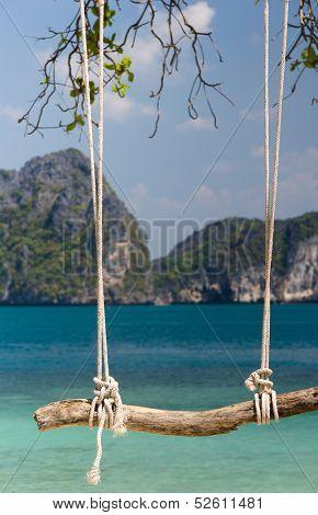 Relaxing in Pardise Seaside Swing