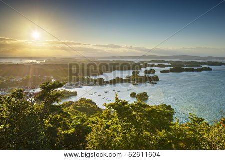 Coast of Matsushima, Japan.