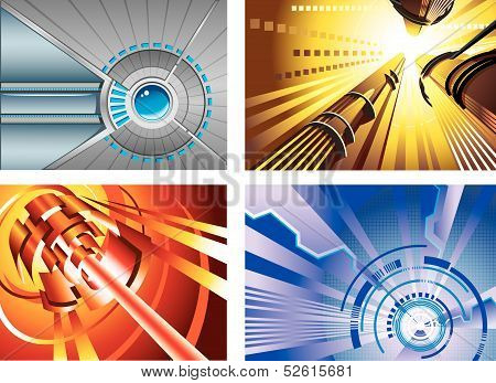 Abstract tech backgrounds