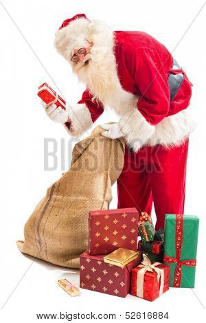 Santa Claus finally found the right gift in his gifts sack