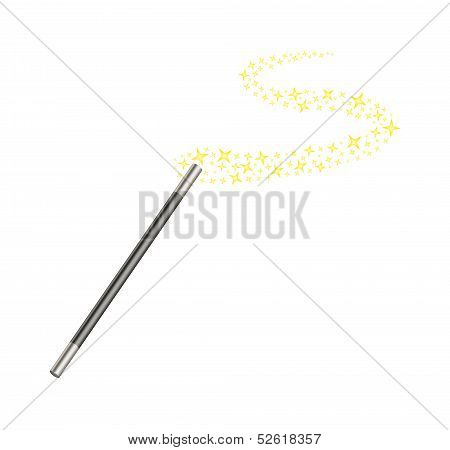 Magic wand with stars