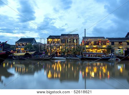 Hoi An Riverside At Dusk