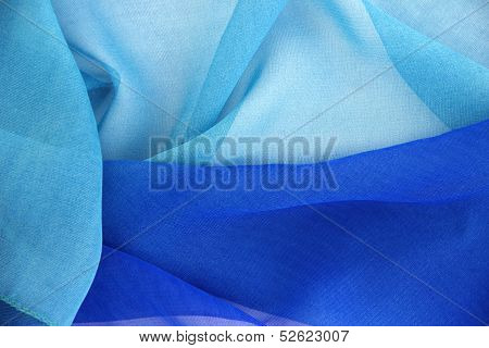 Blue Scarf Background