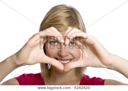 Form Of Heart Shaped By Hands