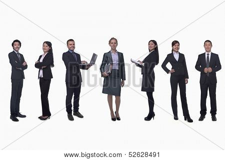 Medium group of business people in a row