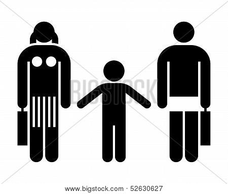 Divorcing Couple With Kid
