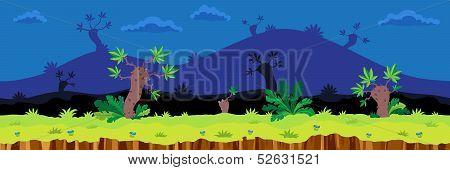 Seamless Cartoon Landscape