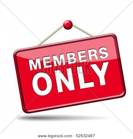 members only icon sign or sticker become a member and join here to get your membership label.