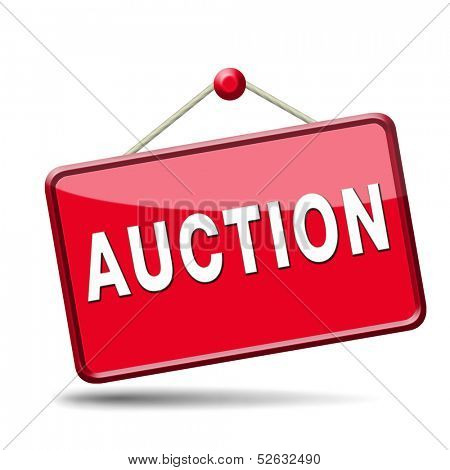 bid online on internet auction for cars real estate or houses
