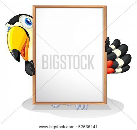 Illustration of a tucan on a white background