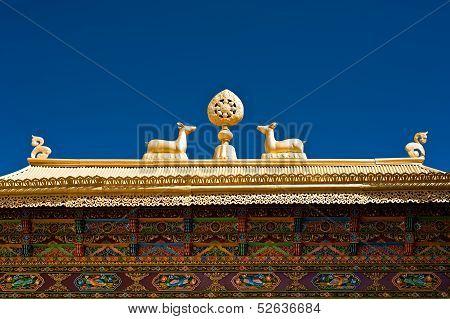 Tibetan Monastery Gates.  India, Ladakh