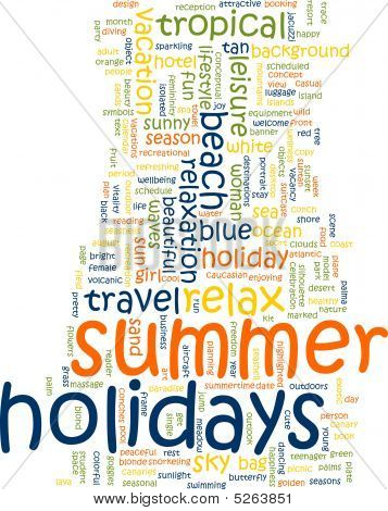 Summer Holidays Word Cloud