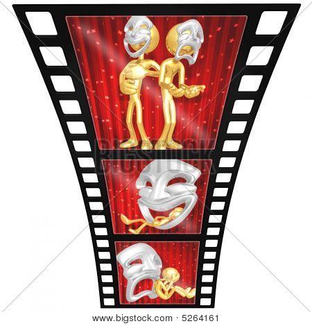 3D Gold Guy Thespian Film Strip