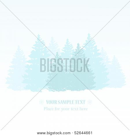 vector winter background with space for text