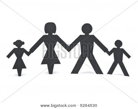 Isolated Paper Family