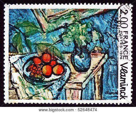 Postage Stamp France 1976 Still Life, By Maurice De Vlaminck