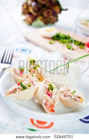 Delicious Conchiglie Pasta With Tuna