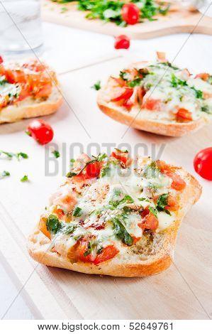 Fresh Vegetarian Italian Toast Bruschetta