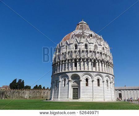 Baptistry Of Pisa, Tuscany, Italy