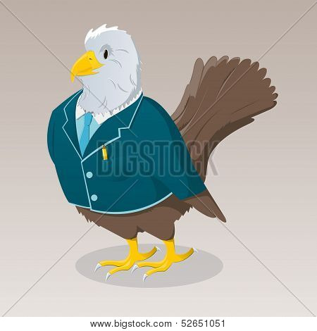Cute Cartoon Bird In Jacket