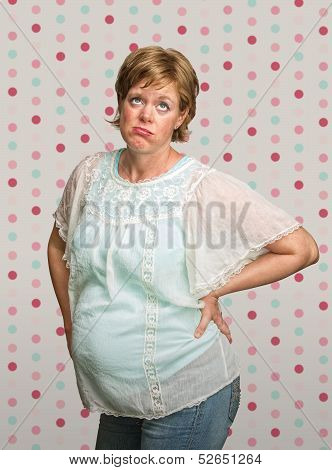 Frustrated Pregnant Woman