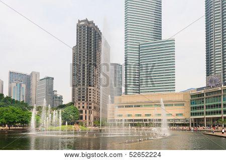 Lake Symphony Fountain In Kuala Lumpur