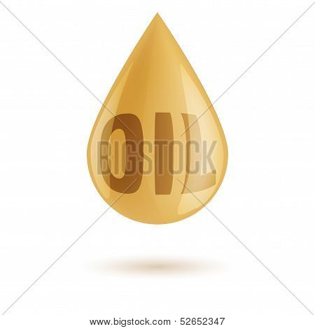 drop of oil isolated on white background